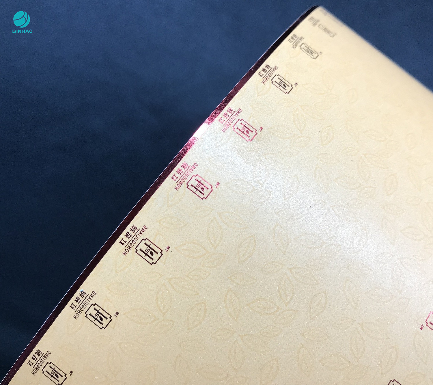 Eco - Friendly Cork Tipping Paper With Hotfoil Stamping For Cigarette Packaging With Brand Authorization