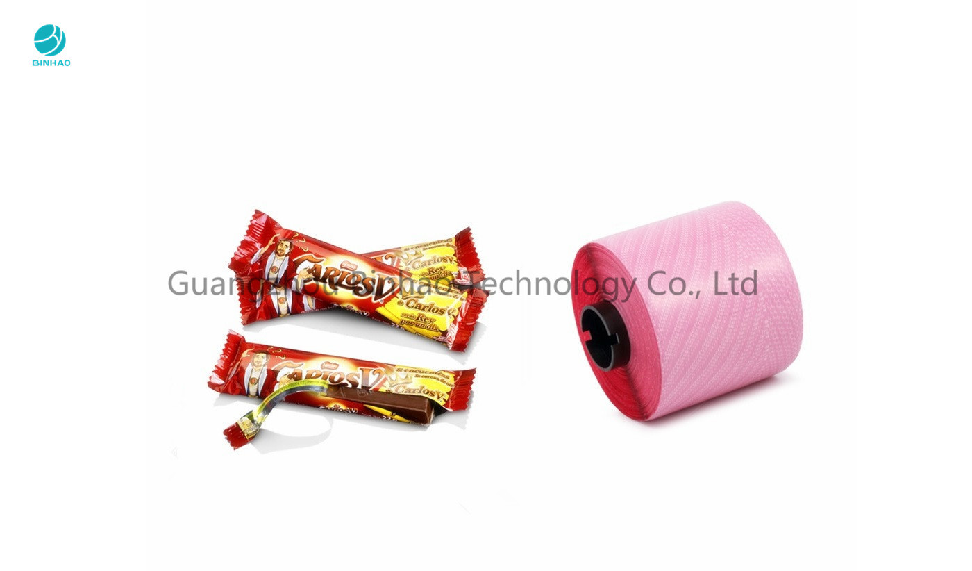 High Tensile Strength 2.5mm Mopp Tear Tape For Candy Food Easy Open In Red Color