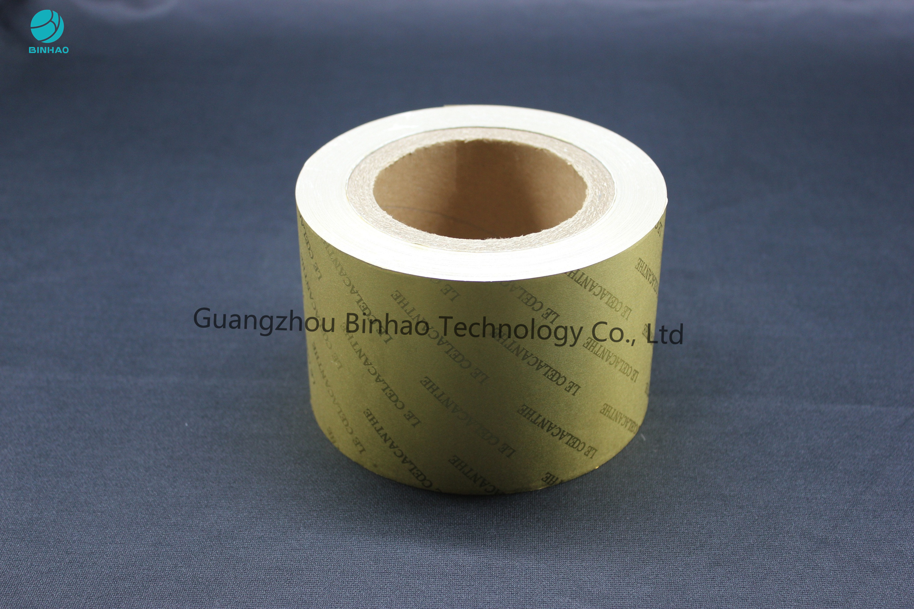 Customized Size Golden Embossing Aluminum Foil Paper Roll 50 Micron Thickness