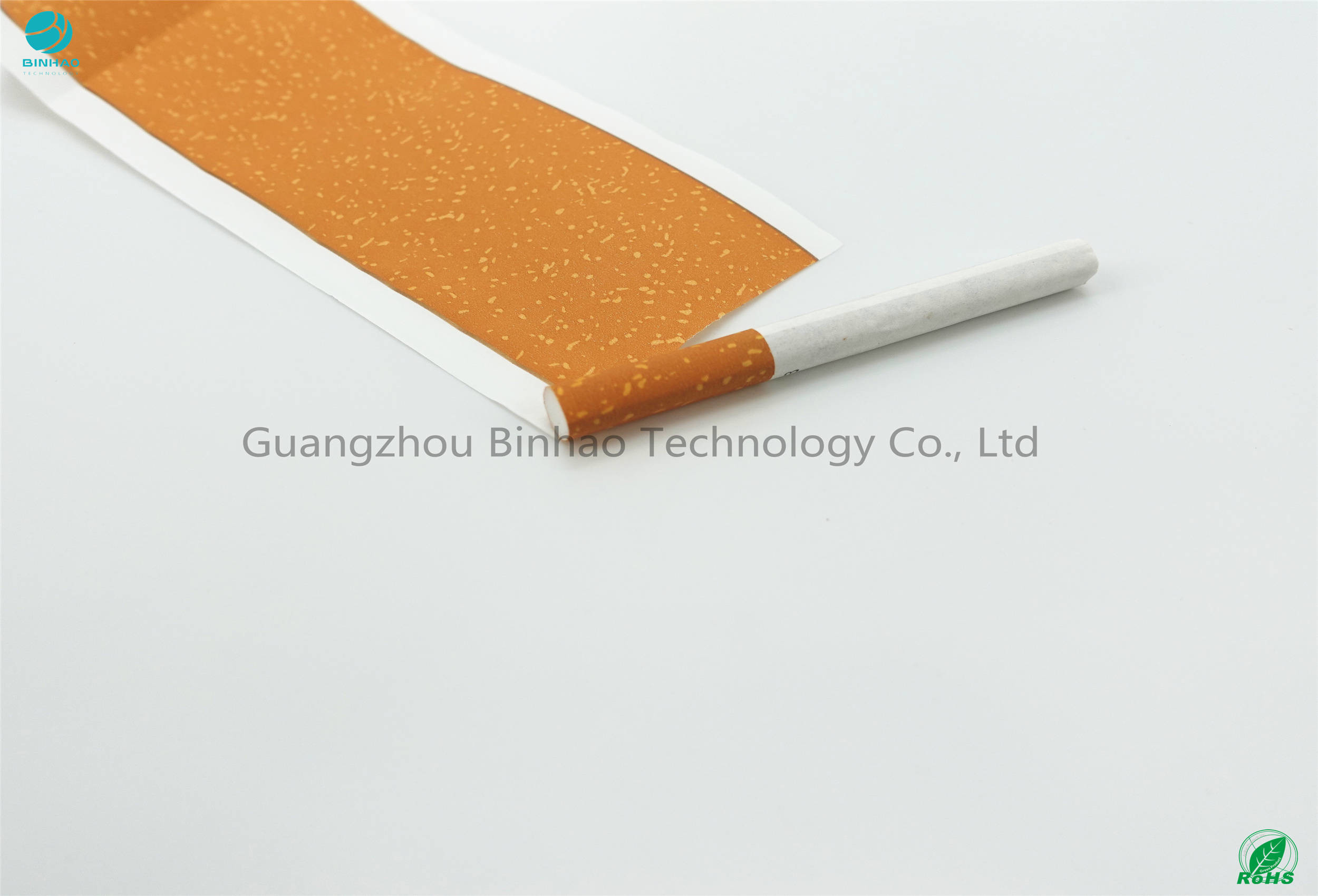 Hot Stamp Foil 34gsm Cigarette Cork Tipping Paper